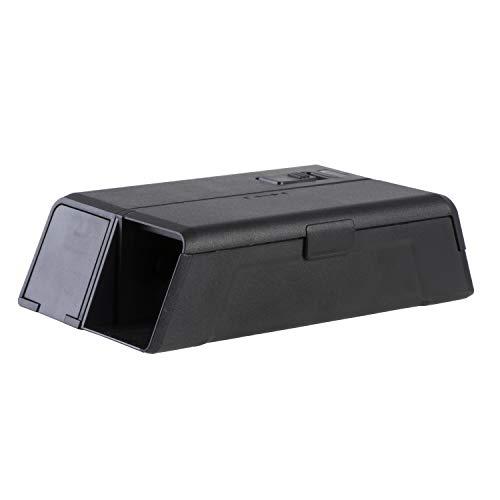 PROTECT HOME Elektronische Mausefalle, sauber und sicher gegen Mäuse, effektive und giftlose Mäusebekämpfung, schwarz