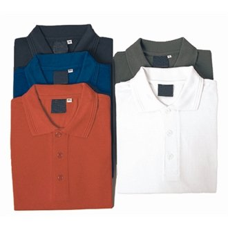 troues a734-m wit poloshirt, maat medium
