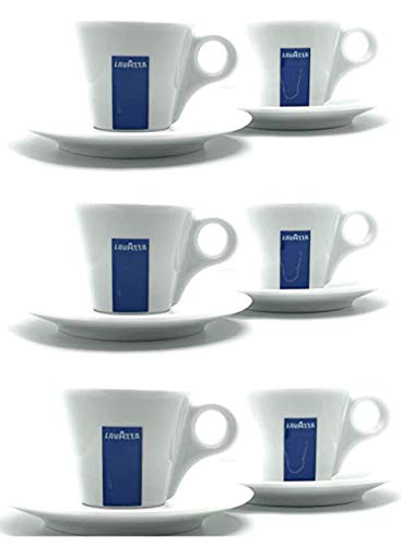6 x Lavazza Espresso Cups, Saucers and Spoons by Lavazza