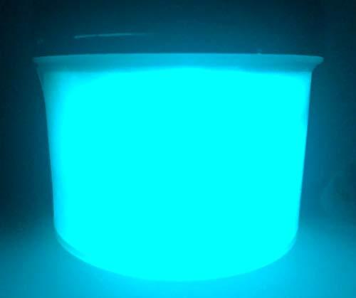 Vernice Corion Glow in The Dark. per mirino, tacca di Mira, bindella di Pistola, Fucile, carabina. Luminescente, per Red DOT, Punto Illuminato, tritium, Fibra Ottica. (Bianco Neon)