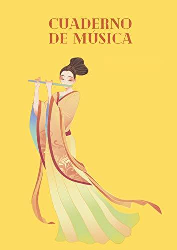 Cuaderno de música: Cuaderno musical para niños y adultos Libreta pautada de partituras con pentagramas A4 100 páginas en blanco para escribir música