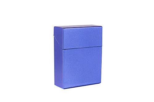 2 Dosen für bis zu 25 Zigaretten oder XL Packung metallic Blau + metallic violett Zigarettenboxen