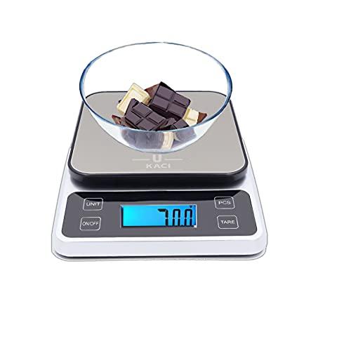 Ukaci Balance Cuisine Electronique 10kg /22lb, Balance numérique avec LCD, Balance de cuisine alimentaire, Balance de cuisine digitale compacte, Petit Electroménager balance de cuisine,