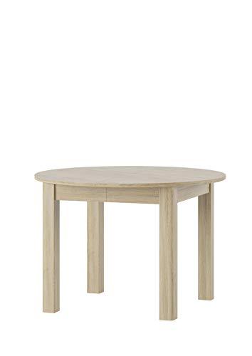 Praktyczny Stół Rozkładany Okrągły do Salonu Jadalni Kuchni Biały Mat (Biały Mat, średnica 110)