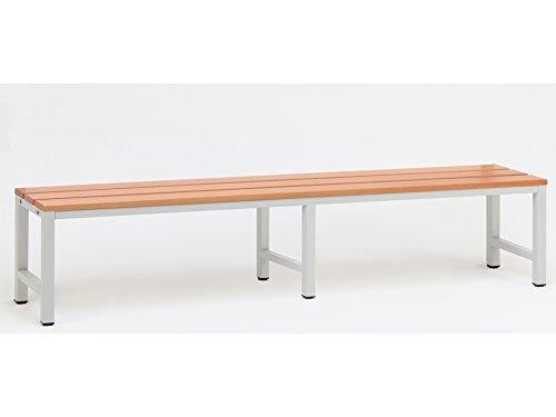 Sitzbank für Umkleideräume 200x30 cm, Marke: Szagato (Umkleidesitzbank, Umkleidebank, Garderobenbank, Bank mit Echtholz für Fitnessstudio)