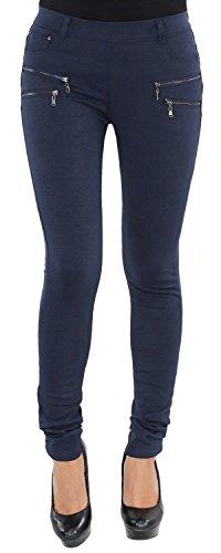 Legging Leggins Jeggins Jeggings Tregging Röhre Röhrenhose Stretch Skinny Hose Slim Fit Blau Rot Schwarz Blau L/40
