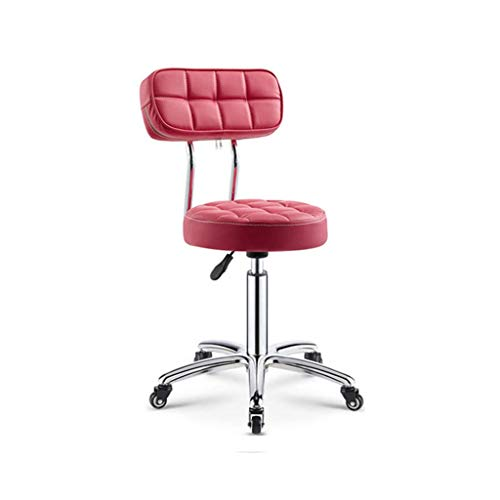 Back Chair, Vintage decoratieve Kruk Office Meeting Room met wielen Office Chair Easy To Barber Chair Move meerdere kleuren om uit te kiezen Barkrukken (Color : E)