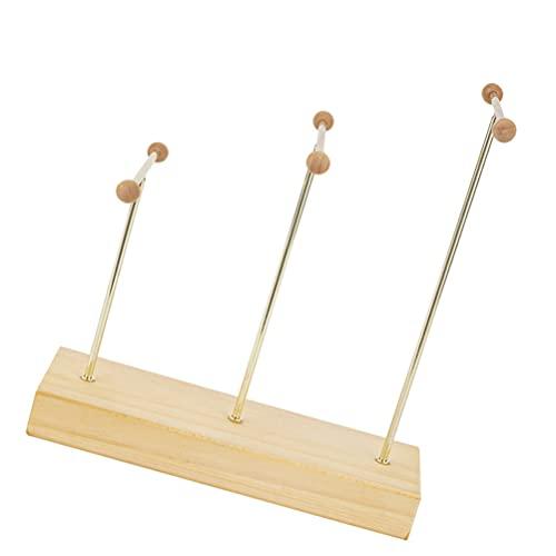 Cabilock Pendientes, barra en forma de T, pendientes de pie, de metal, expositor para joyas, árbol, orejas, collares, pulseras, soporte para joyas, organizador de joyas