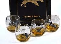 4ピース 水鳥 オプティック ロリー ポリ グラス