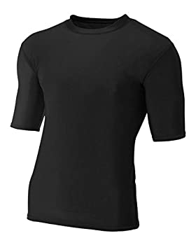 A4 Sportswear Black Adult Large Half Sleeve Compression
