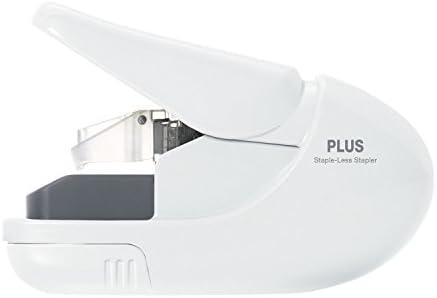 Plus PAPER CLINCH Compact Green Heavy Duty, Light, Staple Free Stapler (31251)
