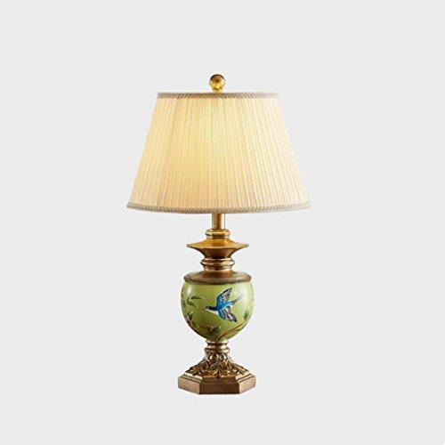 Lampe de table lampe de bureau Lampe de bureau en résine chambre à coucher salon de chevet lampe de table décorative classique créative rétro oiseau modèle lampe, E27
