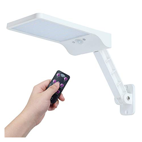450 LM LED de la calle 48 de la energía solar luz PIR pared del sensor de movimiento de la lámpara impermeable al aire libre de control remoto gire el soporte ( Emitting Color : Yellow )