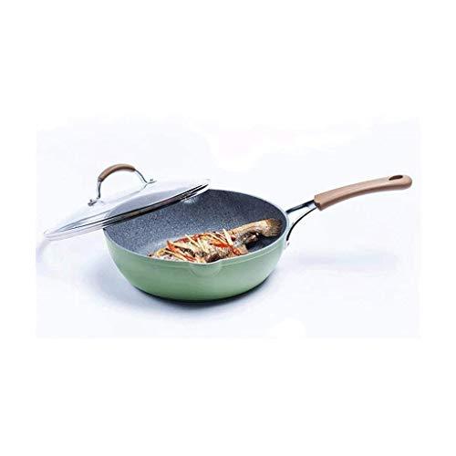 DHTOMC Wok Non Stick Bratpfanne Pancake Steak Pan Kein Rauch Küche Kochgeschirr Verwenden Gas Cooker Xping