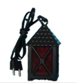 Laterne Kunststoff rot, 4-eckig, Höhe 3cm