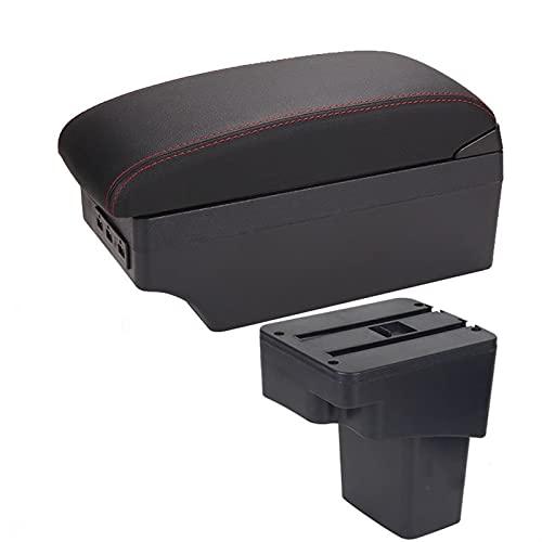SXYY Caja De Reposabrazos para Hyundai Solaris Reposabrazos 2013-2016 Caja del Reposabrazos del Coche Piezas De Actualización Caja De Almacenamiento Accesorios del Coche Interior con USB Autopartes