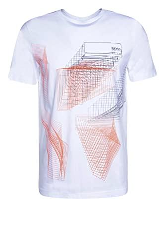 BOSS tee 2 Camiseta, White100, L para Hombre