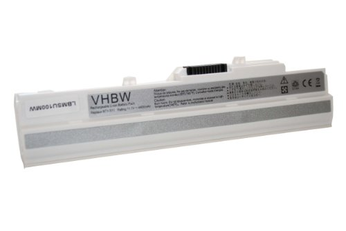 vhbw Batterie pour Netbook Notebook Ordinateur Portable SUBNOTEBOOK 4400mAh 11.1V Blanc White pour LG X110 X-110