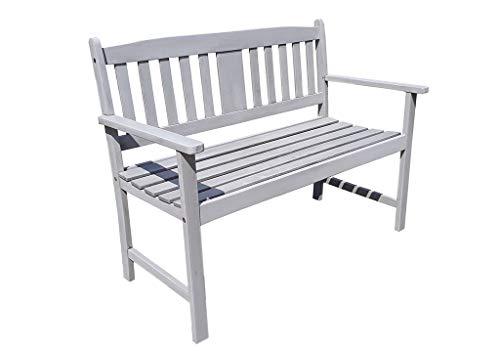 Gravidus 2-Sitzer Gartenbank aus Eukalyptus, Grau