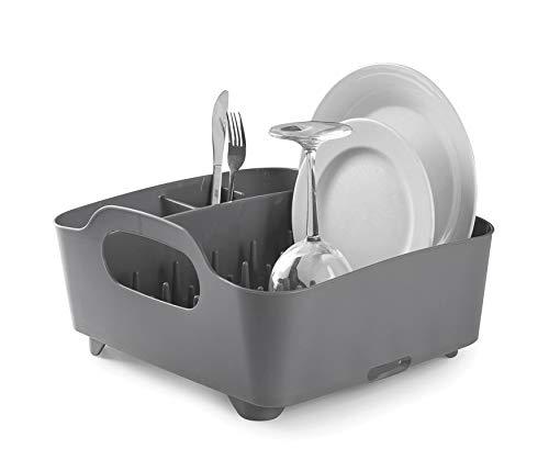 Umbra 330590-149–Escurridor de platos y vasos, 36x32,5x15,5cm, color gris