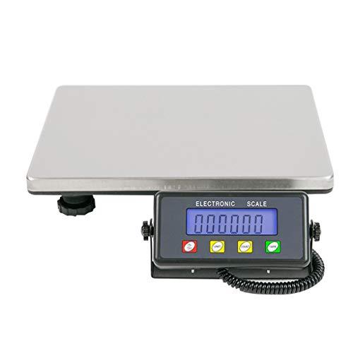 LICHUXIN Bascula Industrial de Plataforma, Balanza de Paquetes 200kg (Plata) (Color : Silver)