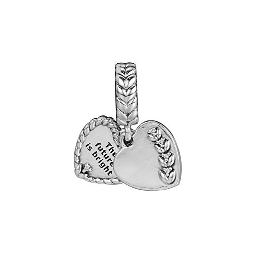 Diy Bright Heart Seeds Hanging Charms For Women Jewelry Making Sterling Silver 925 Jewelry Fine Pendants For Charms Bracelets