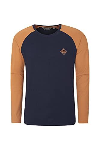 Mountain Warehouse Camiseta Brave The Elements para Hombre - Ligera, Transpirable y de fácil Cuidado - Ideal para el Gimnasio, Deportes, Running y Ciclismo Azul Marino 3XL