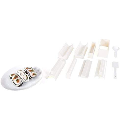 Easy Sushi Maker 10 pièces Moule à Boule de Riz Sushi Roll Making Kit Set pour Les Enfants débutants