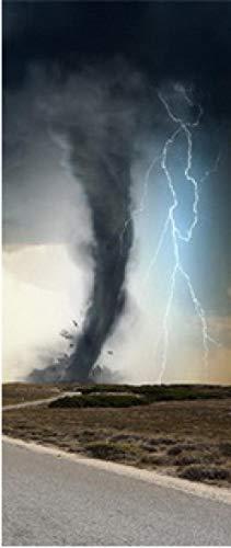 HCCYFRGN® 3D-Dörrklistermärken Diy-Dörrmålningar Självhäftande Dörrklistermärken Kan Användas För Dekoration Av Sovrum Och Vardagsrumsdörrar - Grå Prärie Tornado 80X200Cm