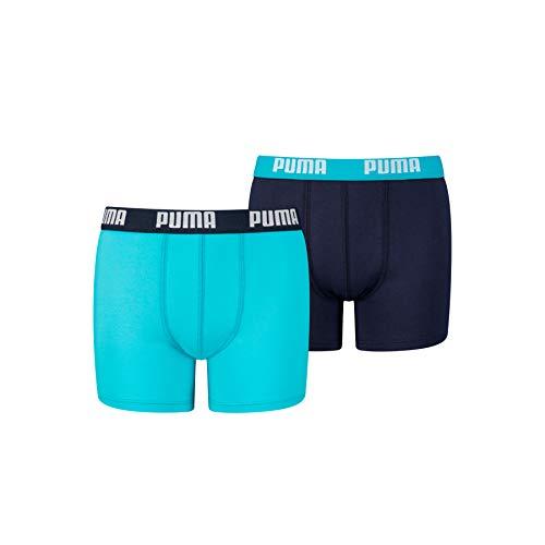 PUMA Basic Boxers Boxer, Azul Brillante, 146/152 cm (Pack de 2) para Niños