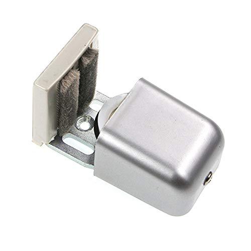 Buyfunny01 - Guía de suelo para puerta corredera (longitud ajustable, mini antibalanceo, ranura para el hogar, acero de bajo ruido sólido (SA)