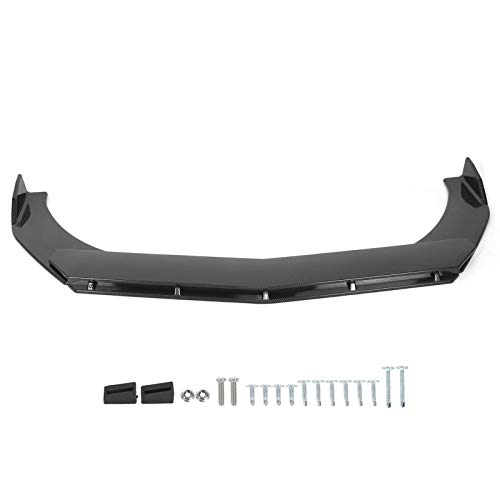 Frontstoßstangenlippe, 3 Stück Frontspoiler Auto Frontstoßstangenlippe Spoiler Splitter Body Kit Carbon Fiber Style Universal für Fahrzeugmodifikation