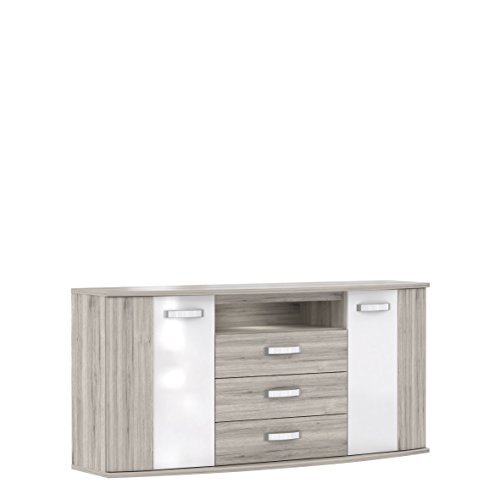 Wohnorama Jugendzimmer Sideboard Rondino inkl LED-Beleuchtung by