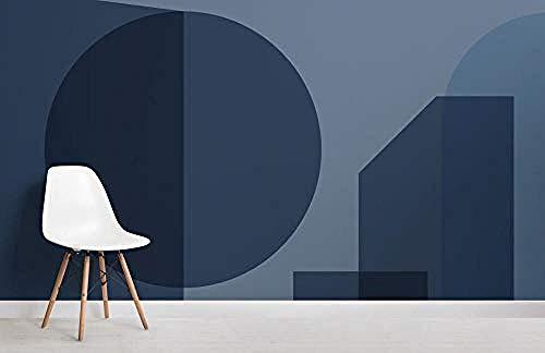 ZZXIAO Blaue geometrische Formen Modernes Bauhaus-Tapeten-Wandbild wandpapier fototapete 3d effekt tapete Wohnzimmer Schlafzimmer Hintergrundbild-250cm×170cm