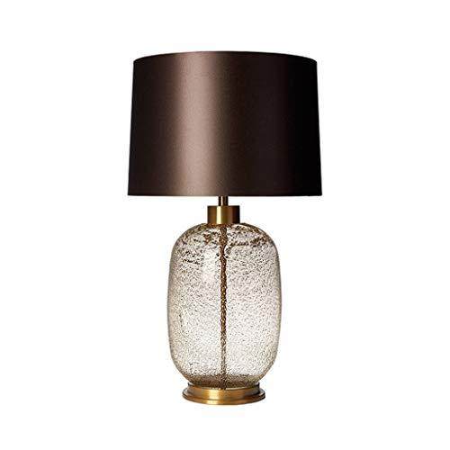 CSQ - Lámpara de mesa (58 - 68 cm), diseño de flores, color transparente