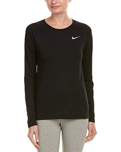 Nike W Nk Brthe Tailwind LS, Maglie A Manica Lunga Donna, Nero, M