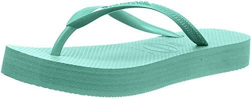 Havaianas Slim Flatform, Chanclas para Mujer, Verde (Green Dew 7611), 37/38 EU