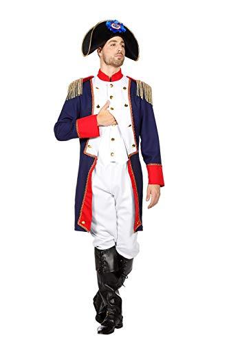 TH-MP Disfraz de Napolen de 3 piezas, uniforme de campo para hombre (50)