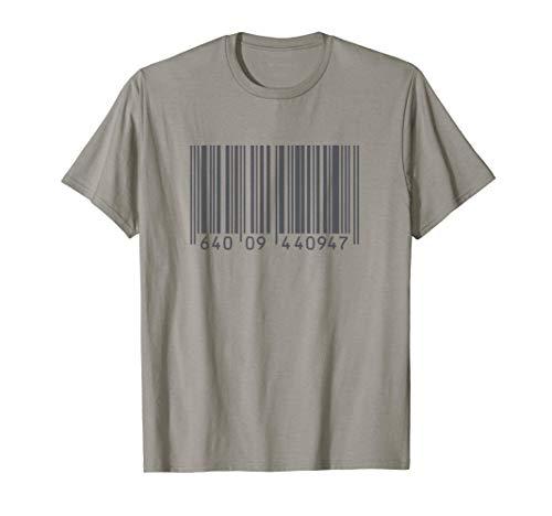 Etiqueta de identificación UPC de código de barras marcada Camiseta