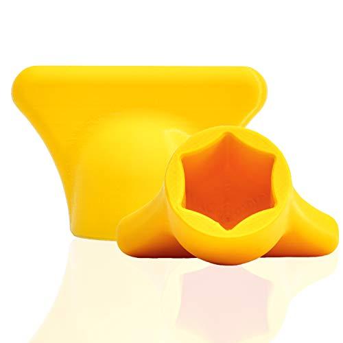 mix-slider - Teigblume für Thermomix, Teiglöser Zubehör für Vorwerk Küchenmaschine TM5 + TM6 3D gedruckt Made in Germany (Gelb)