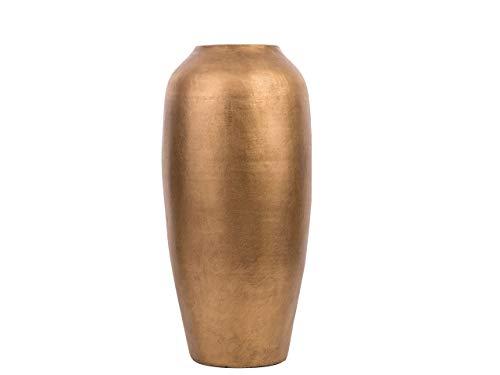 Beliani Klassische Dekovase Retro Stil Terracotta Gold Lorca