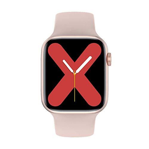 XXY Serie 6 Smart Watch IWO W26 SmartWatch W26 / W26M ECG Monitor de Ritmo cardíaco Temperatura a Prueba de Agua para Apple Android W26 Pro (Color : Pink, Size : 44mm W26)