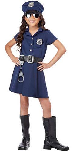 Forever Young UK Mädchen Polizistin Kinder Polizist Outfit Kostüm Cop Uniform (7-8 Jahre alt) Navy