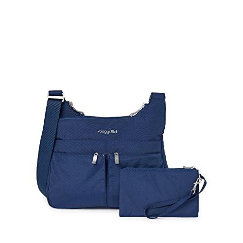 Baggallini Women Crossbody Bag, Lightweight, RFID-Blocking Wristlet, Pacific,One Size
