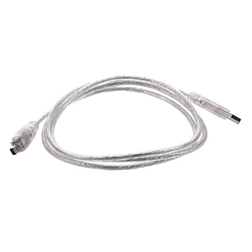 TOPSALE Cable de Extension USB 2.0 a IEEE 1394 Firewire 4 Pin 4 Pies para Camara Digital o Videocamara