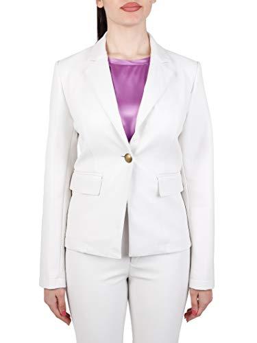Pinko GIOBERTO Blazer, Z14_Bianco + Bianco, 42 para Mujer