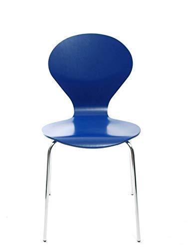 Konferenzstuhl Stuhl Rondo von Danerka in Kobaltblau