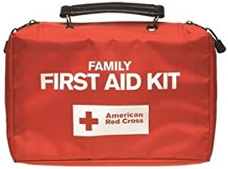 American Red Cross First Aid Kit, Kit, Nylon Case Material, Family, 10 People Served Per Kit - 1 Each