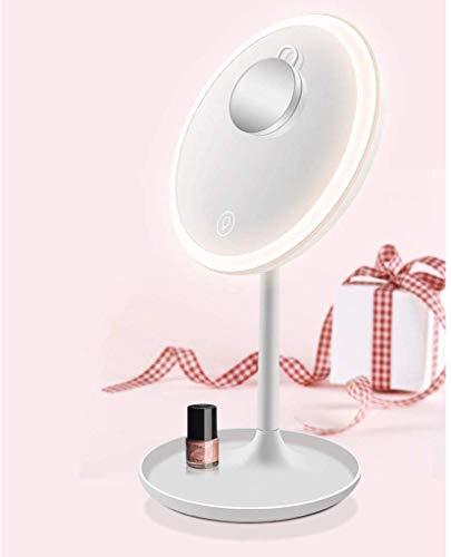 WYZXR Miroir de courtoisie de Maquillage de comptoir léger à LED avec Miroir de Tache de grossissement 5X détachable