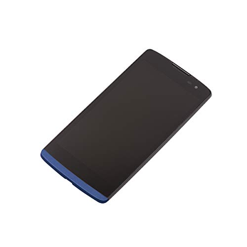 SEEU Replacement for LG Tribute 2, LCD Display Digitizer Touch Screen with Frame Assembly Compatible with LG Leon LTE MetroPCS Risio H343 MS345 C50 h340 h340n h340f h340ar h345/Tribute 2 LS665 (Blue)